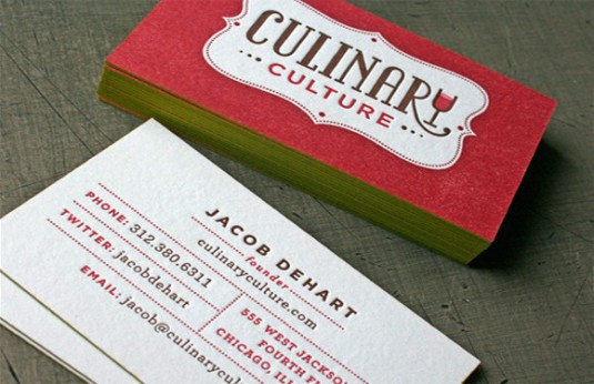 Letterpress cards, Culinary Culture