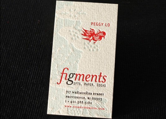 Letterpress cards, Figments