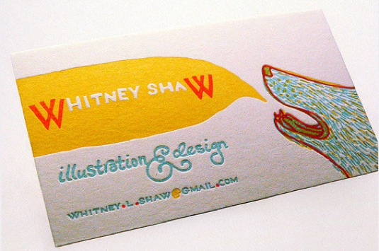 Letterpress cards, Whitney Shaw
