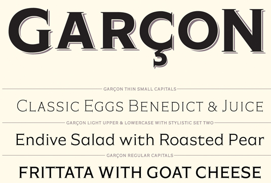 Garçon Grotesque is one of many classic fonts to be revived by modern designers