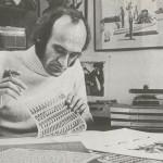 Letraset user, 1978